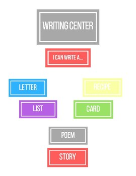Writing Center Printable Labels