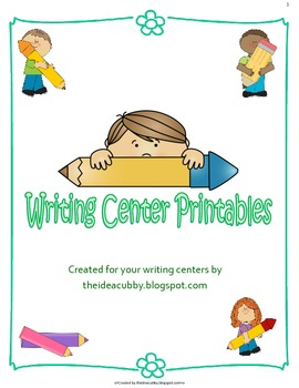 Writing Center Printable Pages for K-2