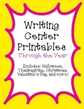 Writing Center Printables (Through the Year)
