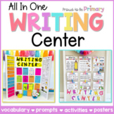 Writing Center Prompts, Posters, Activities, Vocab | Kinde