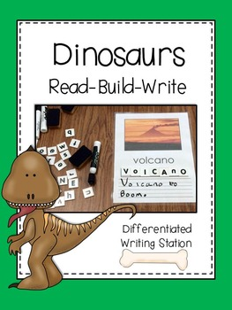 Writing Center: Read. Build. Write (Dinosaurs Edition)