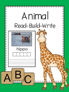 Writing Center: Read. Build. Write (Zoo Animals Edition)