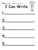 Writing Center Record Sheet