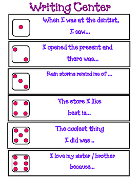 Writing Center - Roll The Die