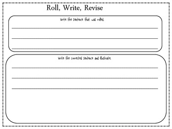 Writing Center- Roll Write Revise