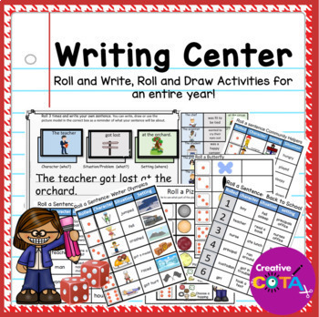 GROWING BUNDLE! Writing Center Roll a Sentence
