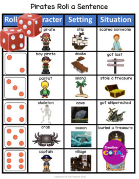 Writing Center: Roll it activities for an entire year