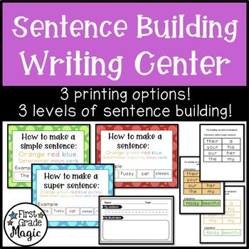 Writing Center--Sentence Building
