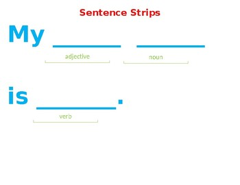 Writing Center Sentence Strips