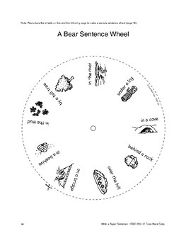 Writing Center: Sentence Wheels