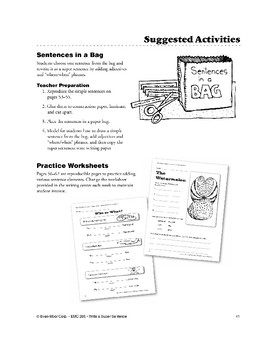 Writing Center: Sentences in a Bag