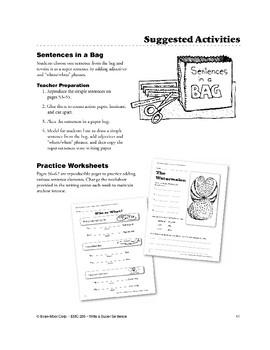 Writing Center: Sentences in a Bag