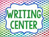 Writing Center Signs- FREE
