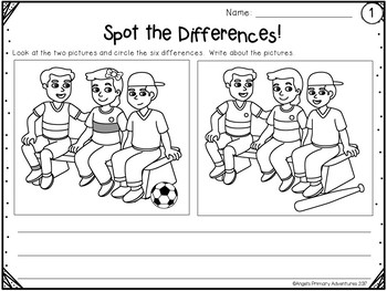 Writing Center:  Spot the Differences