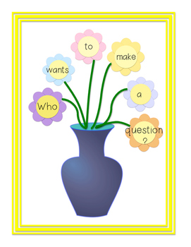 Writing Center: Springtime Flowers Build A Question