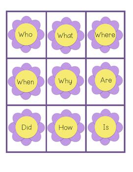 Writing Center: Springtime Flowers Build A Question