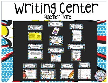 Writing Center Superhero Theme