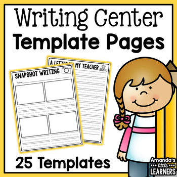 Writing Center Templates - Letters, Lists, Recipes and More!
