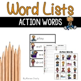 Writing Center Word Lists - Action Words (verbs)