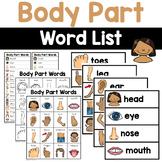 Body Part Words