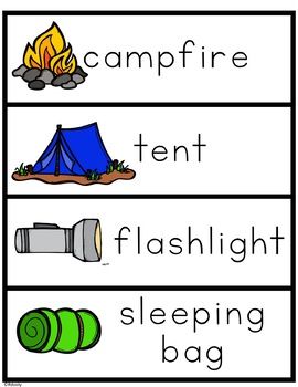 Camping Words