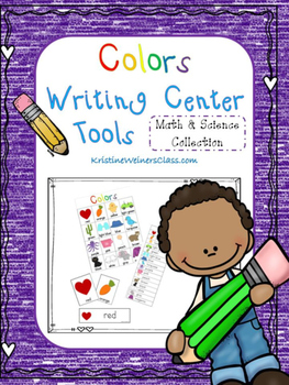 Colors Writing Center Tools: Math and Science Words