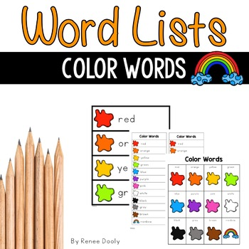 Writing Center Tools- Color Words FREEBIE