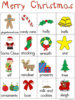 Christmas Writing Center Tools - Holiday and Celebration Words - Freebie