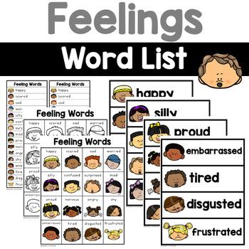 Feeling Words By Renee Dooly Teachers Pay Teachers