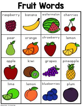 Fruit Words
