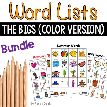 Writing Center Lists- Just the Bigs (color version)