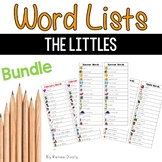 Writing Center Lists- Just the Littles