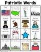 Patriotic and American Symbol Words
