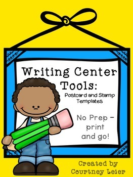 Writing Center Tools: Postcard & Stamp Templates