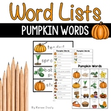 Pumpkin Words