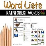 Rainforest Words