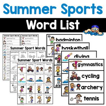 Summer Sports Words