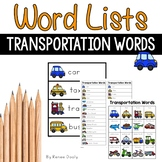 Transportation Words