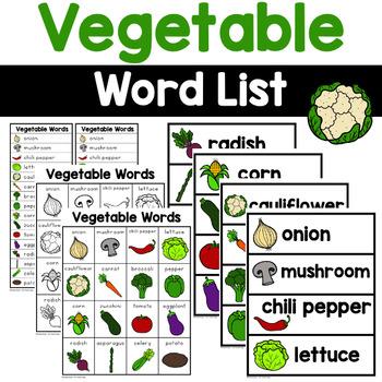 Vegetable Words