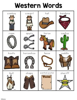Cowboy and Western Words