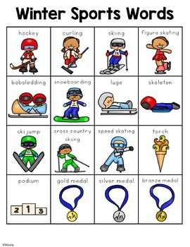 Winter Sports Words