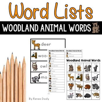 Woodland (Forest) Animal Words