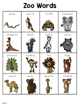 Zoo Words