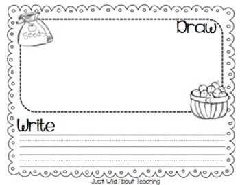Write This & Draw That! Writing Center Starter Topics - Freebie { September }