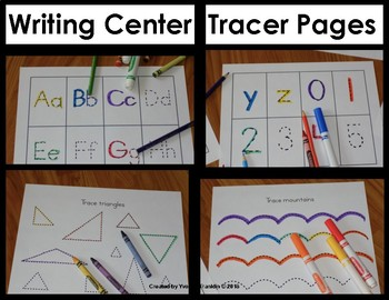 Writing Center Tracer Pages