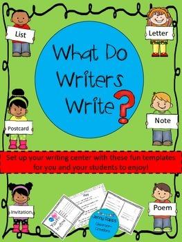 Writing Center: What Do Writers Write?