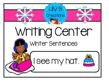 Writing Center - Winter Sentences