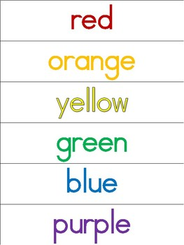 Writing Center Word Cards