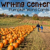 Writing Center Word Cards: Pumpkin