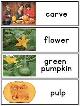 Writing Center Word Cards: Pumpkin